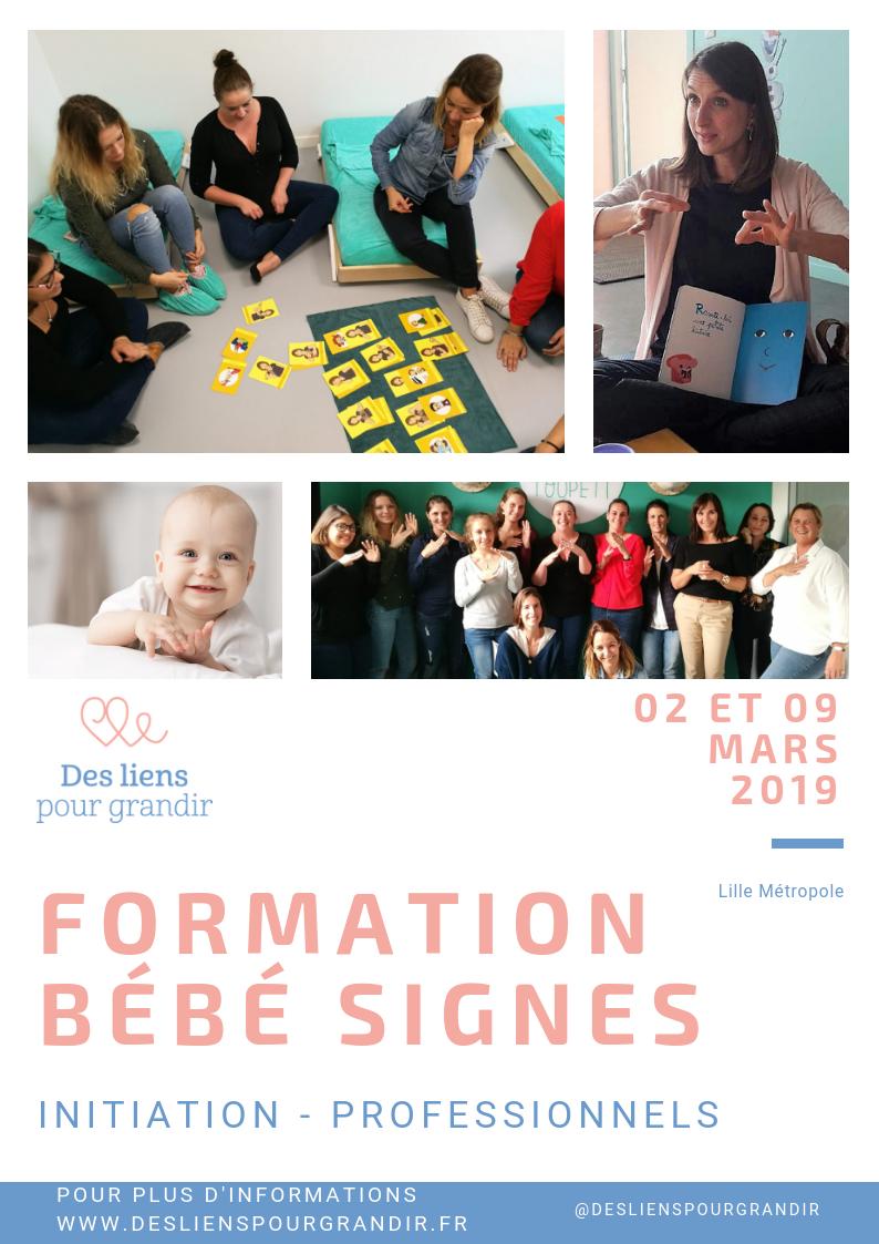 Formations Bébé signes INITIATION Tous publics